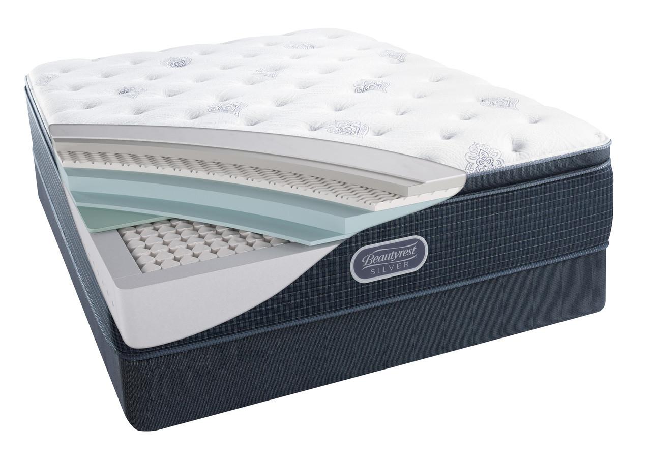 simmons beautyrest silver henderson cove plush pillow top mattress