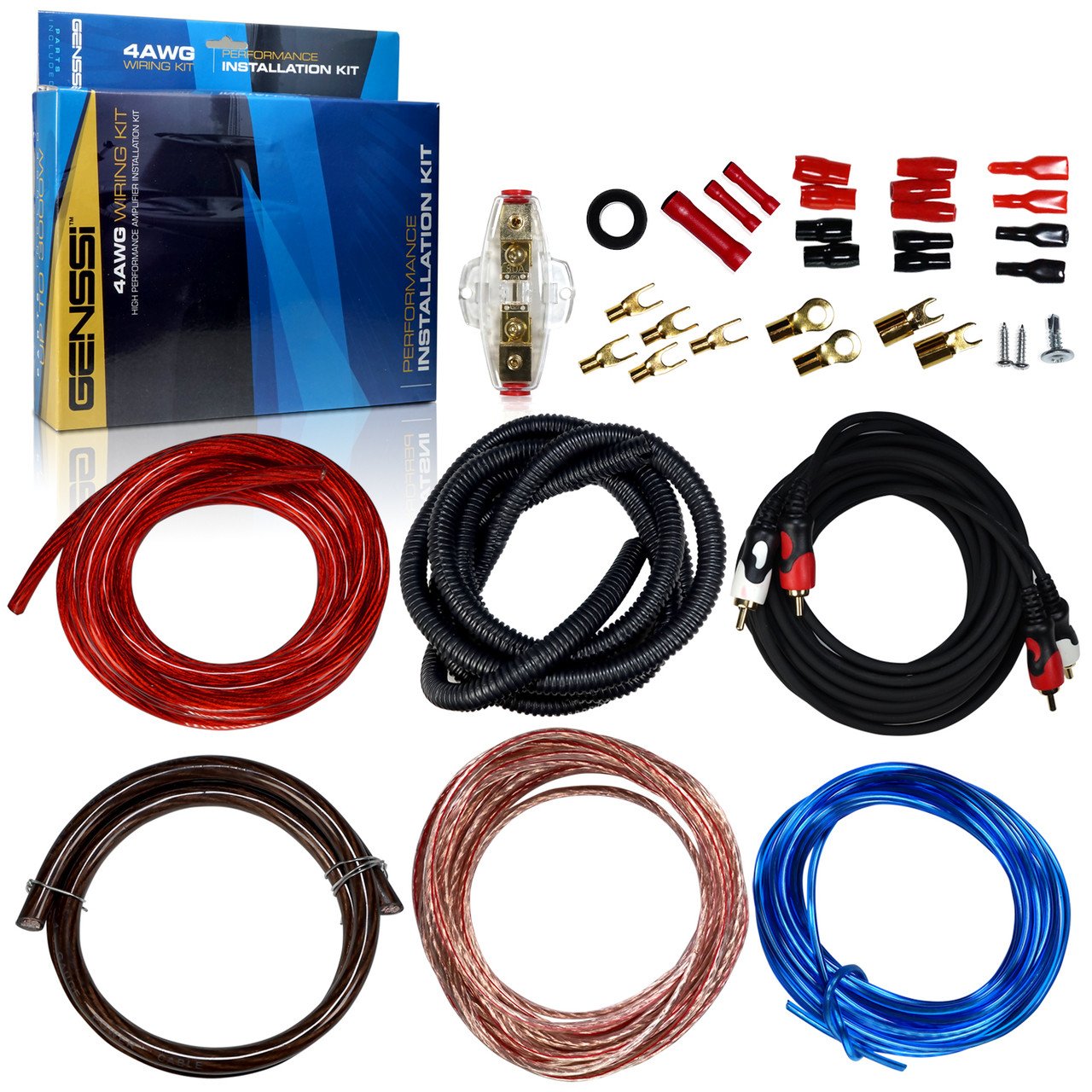 4awg car audio installation wiring kit 4 gauge genssi 4 gauge wiring kit car audio [ 1280 x 1280 Pixel ]