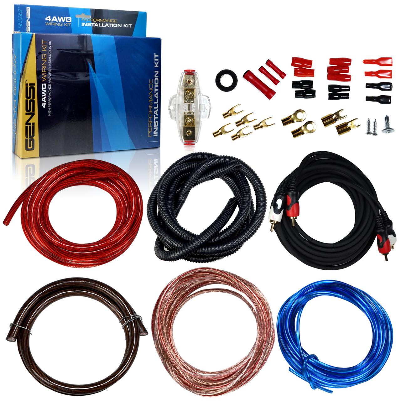 hight resolution of 4awg car audio installation wiring kit 4 gauge genssi 4 gauge wiring kit car audio