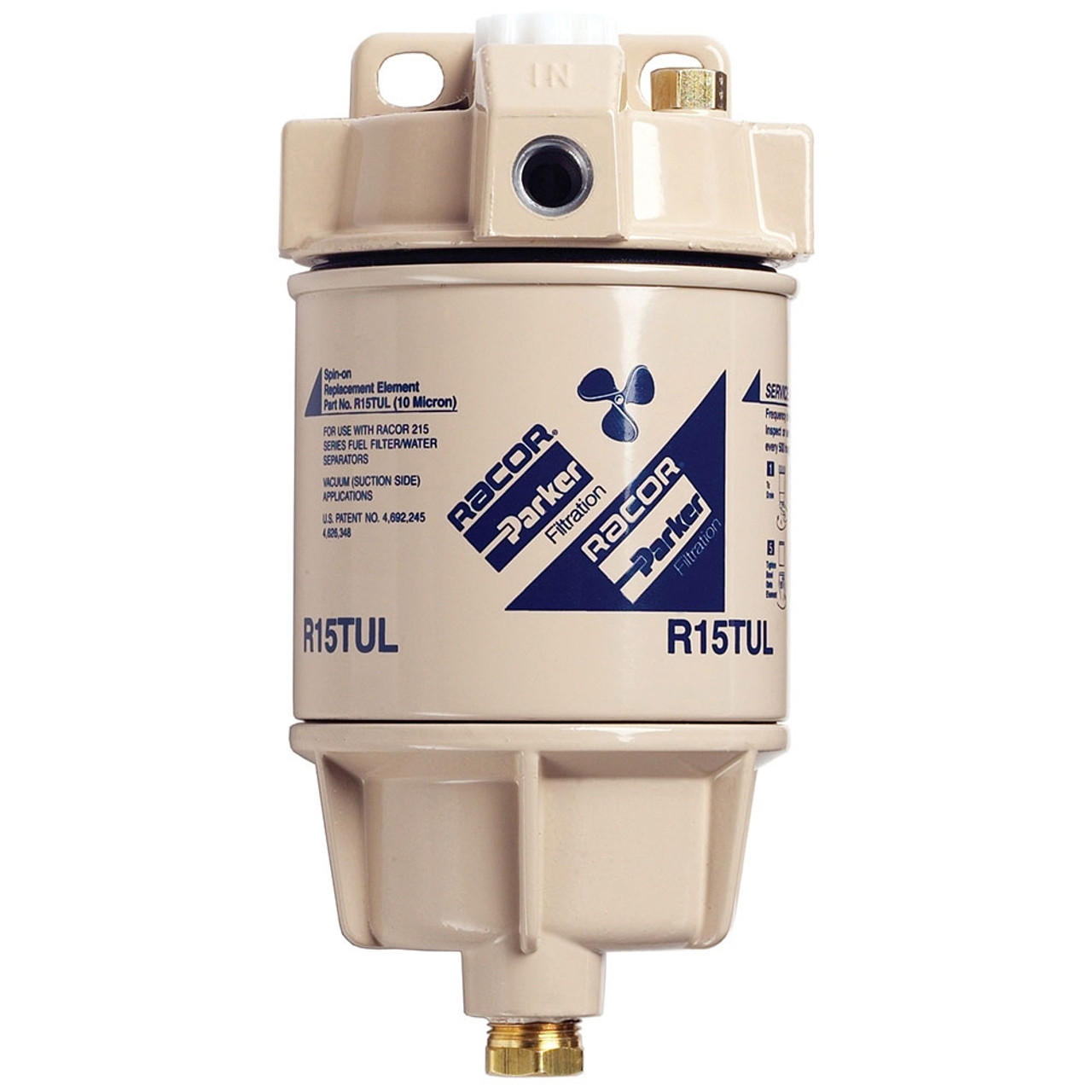 hight resolution of racor 1 4 in 15 gph aquabloc marine spin on type diesel fuel filter water separator assembly 6 qty john m ellsworth co inc