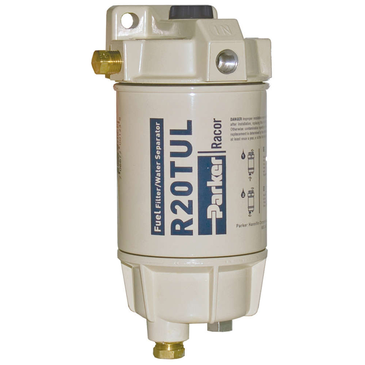 hight resolution of racor 1 4 in 30 gph aquabloc marine spin on type diesel fuel filter water separator assembly 6 qty john m ellsworth co inc