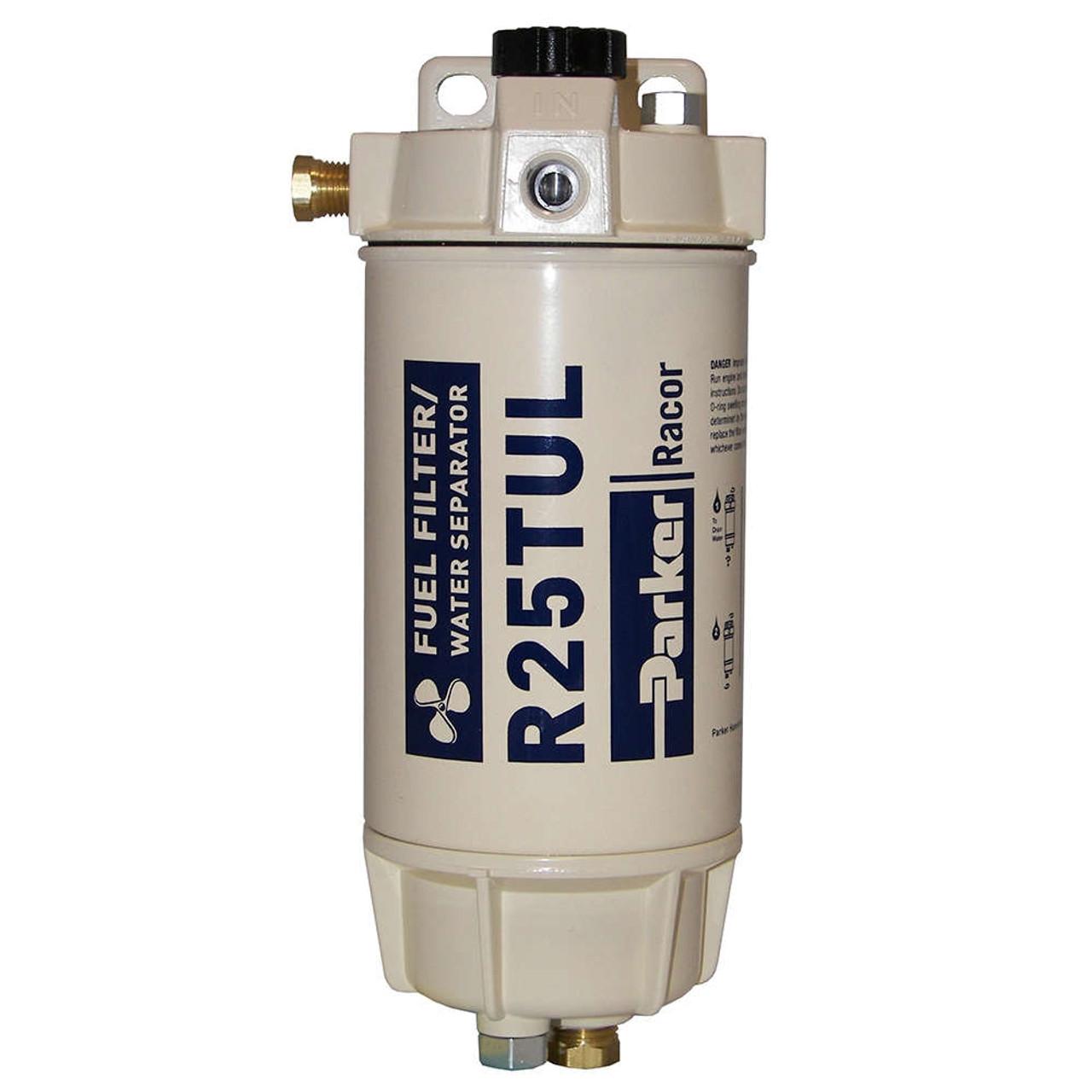 medium resolution of racor 1 4 in 45 gph aquabloc marine spin on type diesel fuel filter water separator assembly 6 qty john m ellsworth co inc