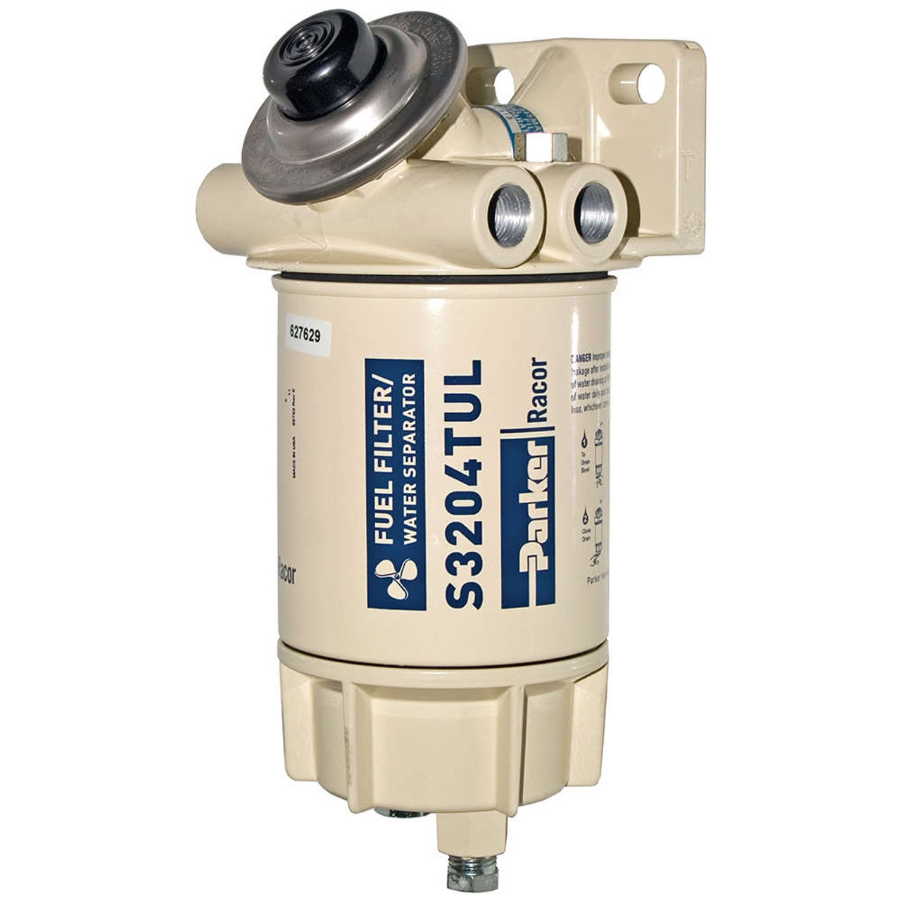 hight resolution of racor aquabloc marine 3 8 in 45 gph spin on diesel fuel filter water separator assembly 6 qty john m ellsworth co inc