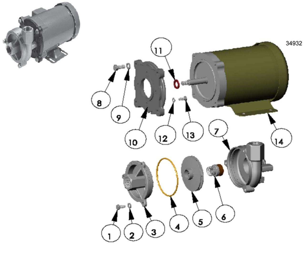 mp pumps frx 100 pump replacement parts cover 3 [ 1005 x 838 Pixel ]