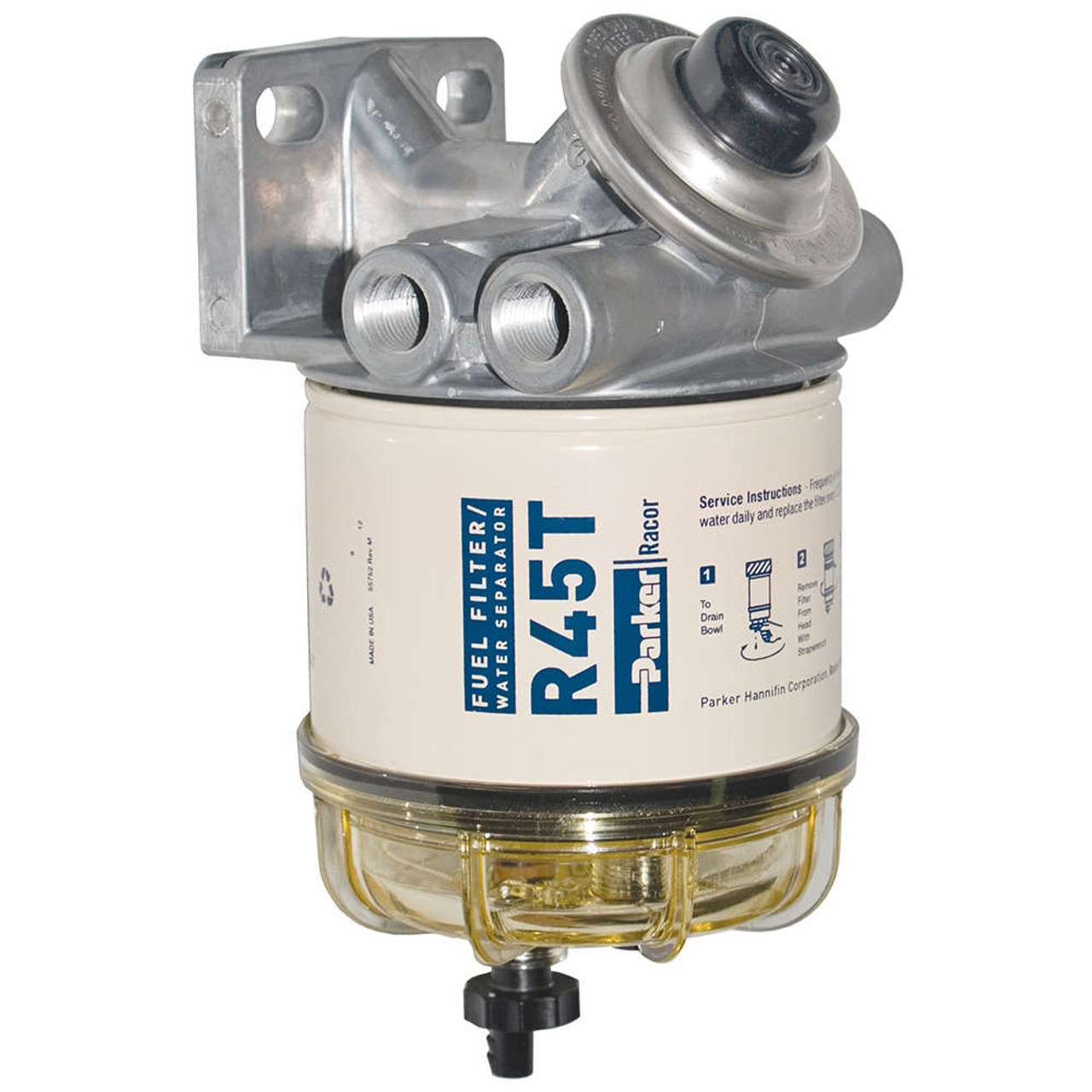 medium resolution of racor 400 series 45 gph diesel spin on fuel filter 10 micron 6