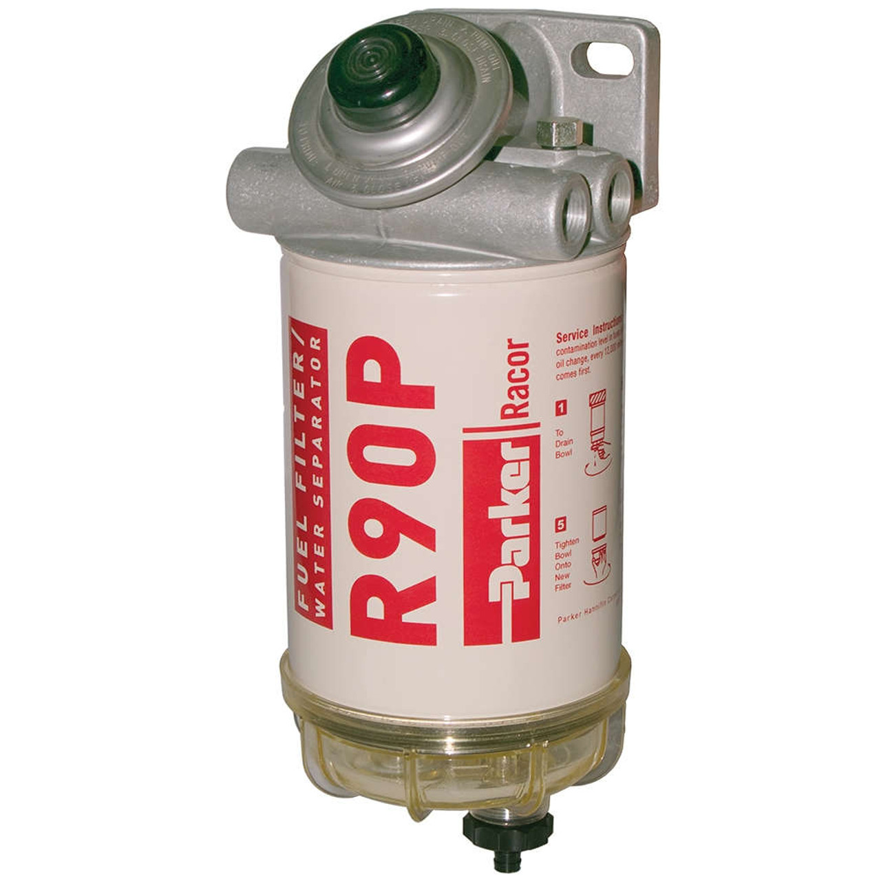 medium resolution of racor 400 series 90 gph diesel spin on fuel filter 30 micron 6