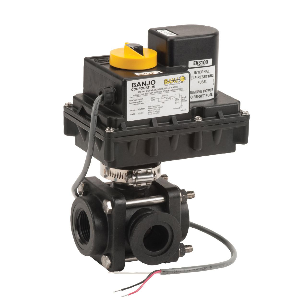 medium resolution of 3 way side load on off electric ball valve john m ellsworth co inc