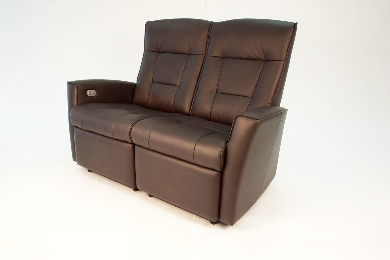 2 seater love chair egg for sale fjords ulstein wall saver sofa hjellegjerde of norway shown in havana nordic line leather