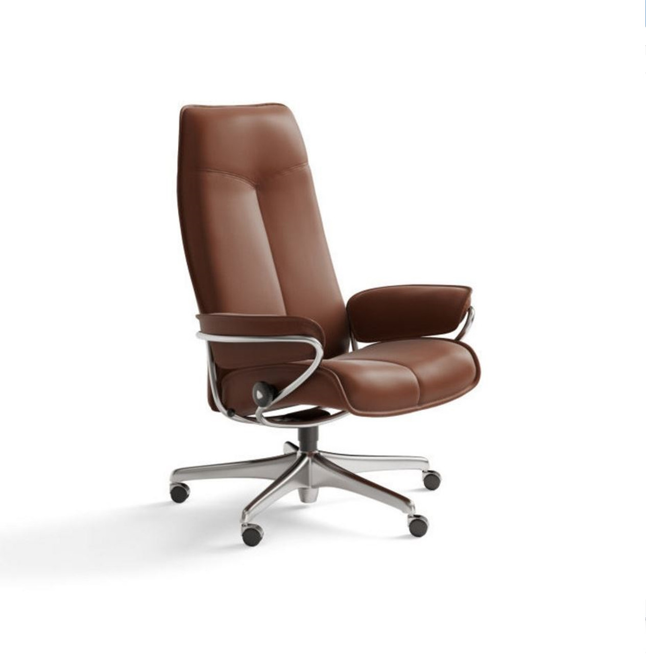 office chair high back rattan cushions covers stressless city option copper paloma leather ships stress free at unwind