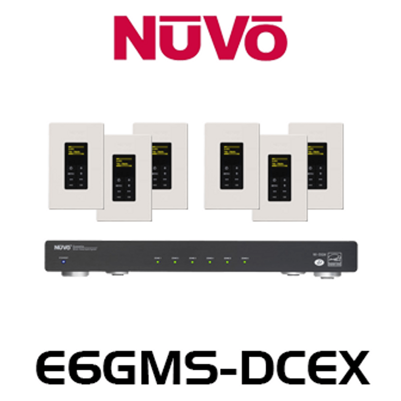 nuvo e6gm dcex 6 source 6 zones essentia g audio distribution system nuvo essentia wiring diagram [ 1280 x 1280 Pixel ]