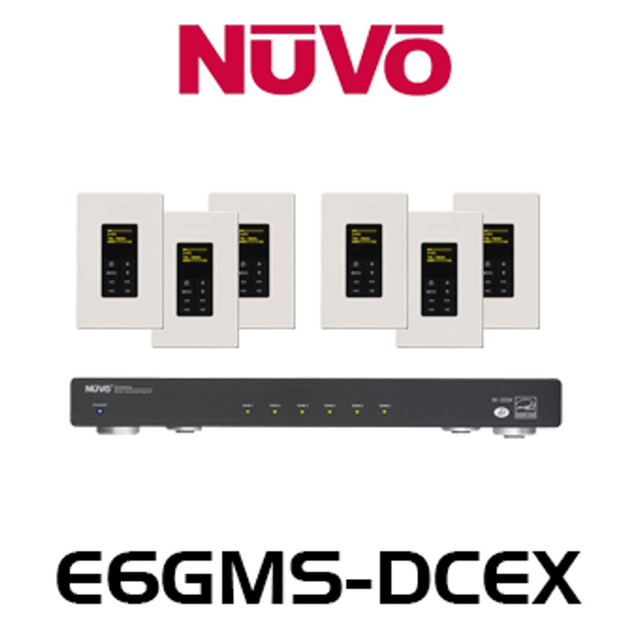 nuvo e6gm dcex 6 source 6 zones essentia g audio distribution system nuvo essentia wiring diagram [ 1280 x 1280 Pixel ]