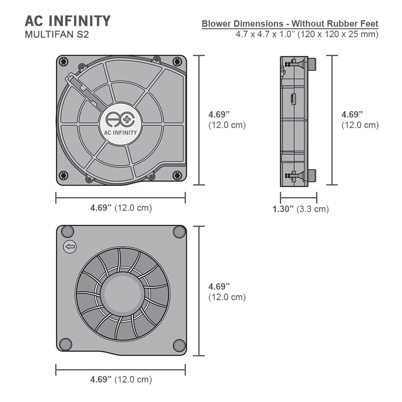 ac infinity multifan s2 120mm quiet usb cooling blower [ 1000 x 1000 Pixel ]