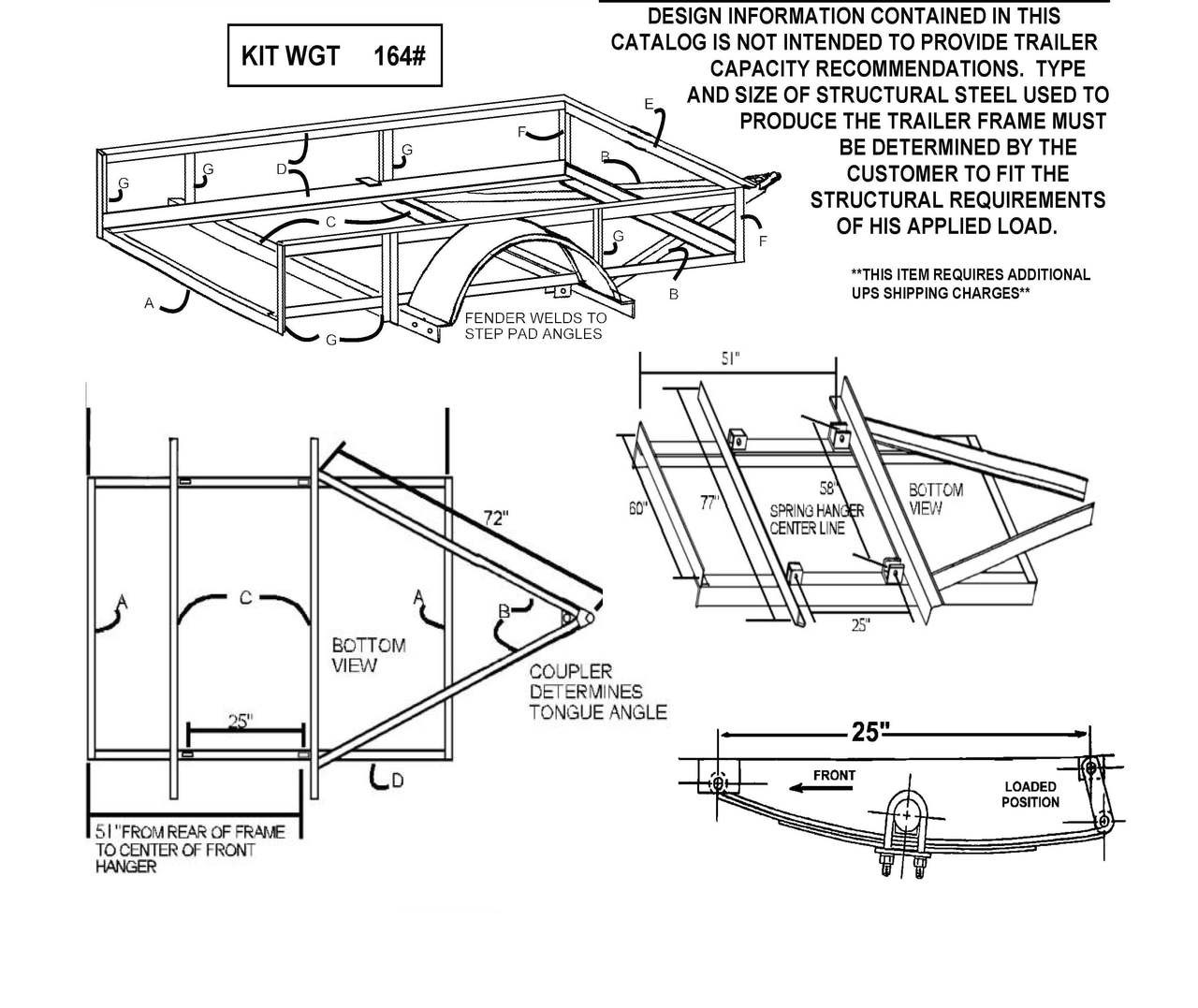 hight resolution of  single axle trailer parts kit diagram