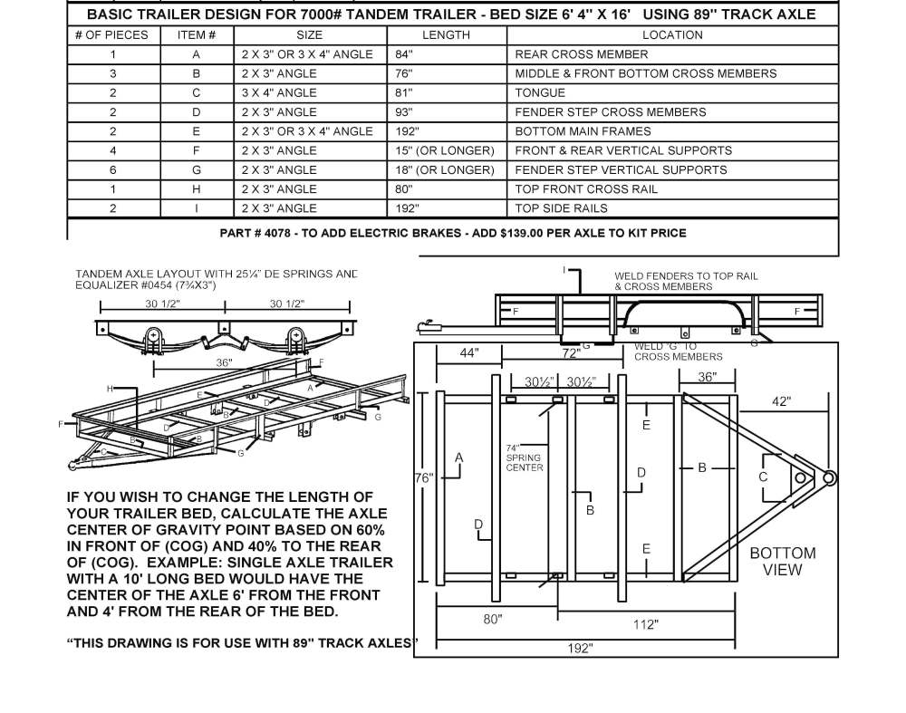 medium resolution of build your own utility trailer with champion trailers complete wiring diagram for tandem axle trailer