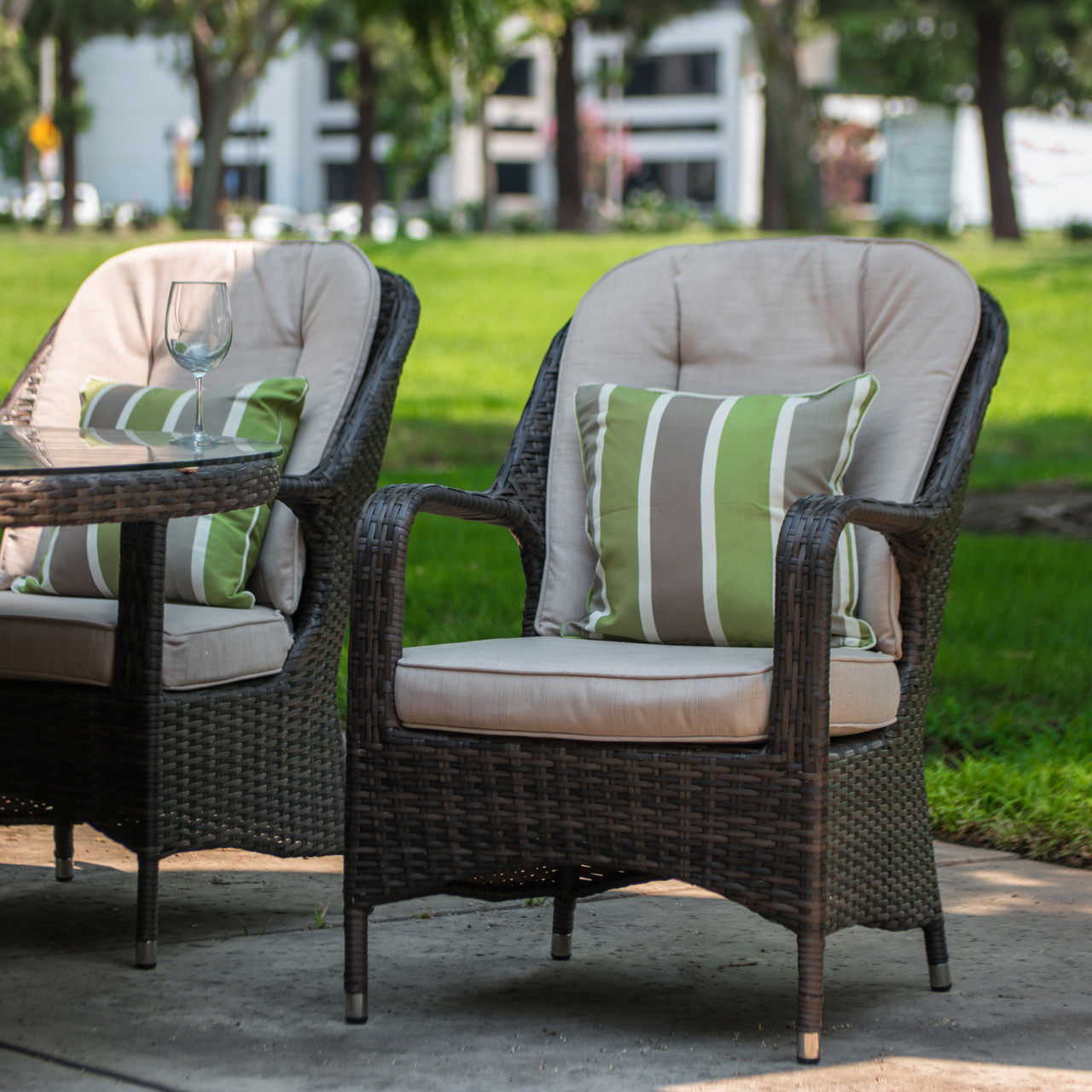 Outside Lounge Chairs Direct Wicker Liberatore Lounge Chair With Cushions 8 Pcs