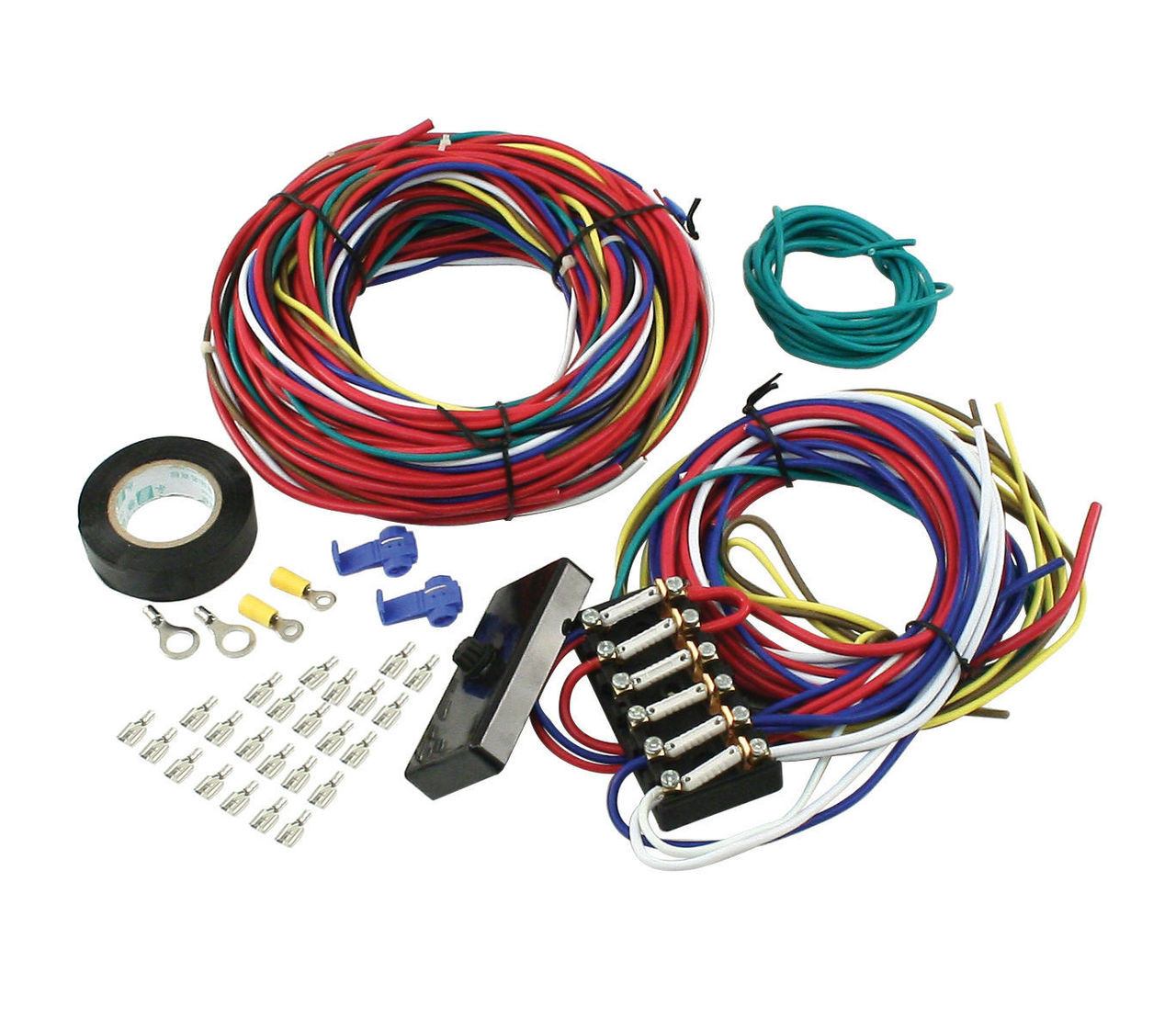 small resolution of empi vw dune buggy sand rail baja universal wiring harness with fuse box 9466