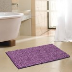 Royal Purple Soft Chenille Noodle Floor Bath Mat Rug 2 Tone Non Skid Backing 17 X 24 My Infinity Store