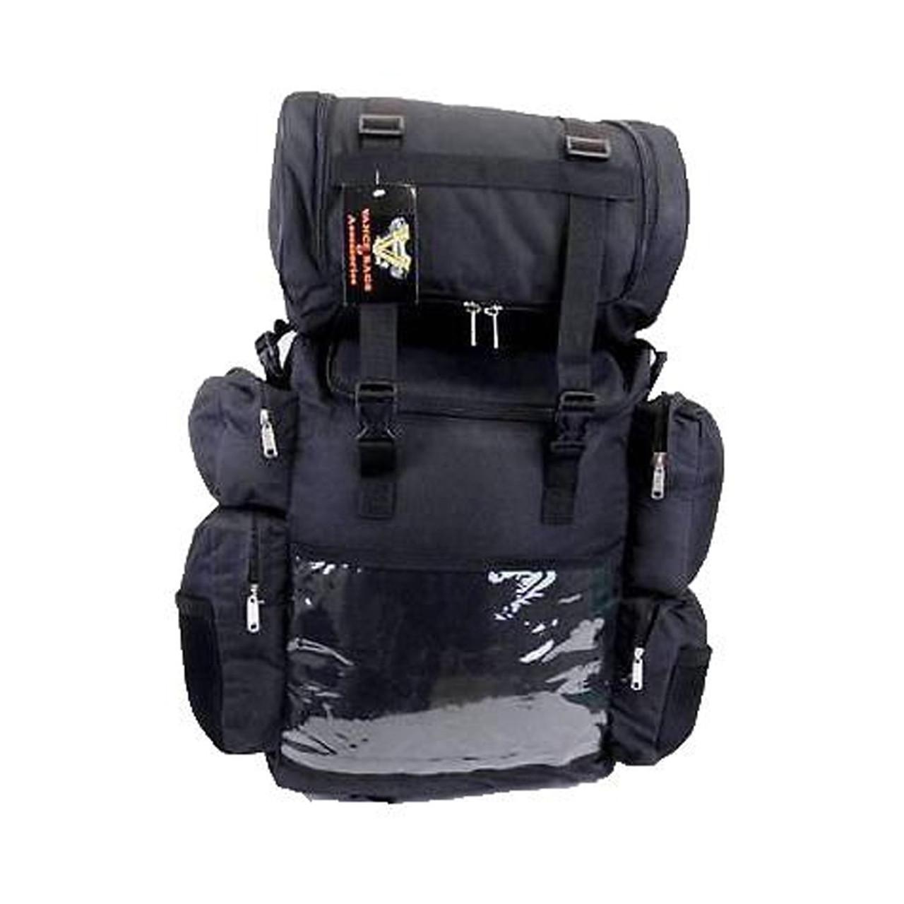 Vance VS324 Black Nylon Large Motorcycle Travel Luggage Sissy Bar Bag - Team Motorcycle