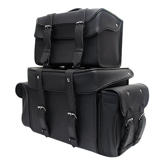 Large Premium Plain Sissy Bar Motorcycle Luggage - Team Motorcycle