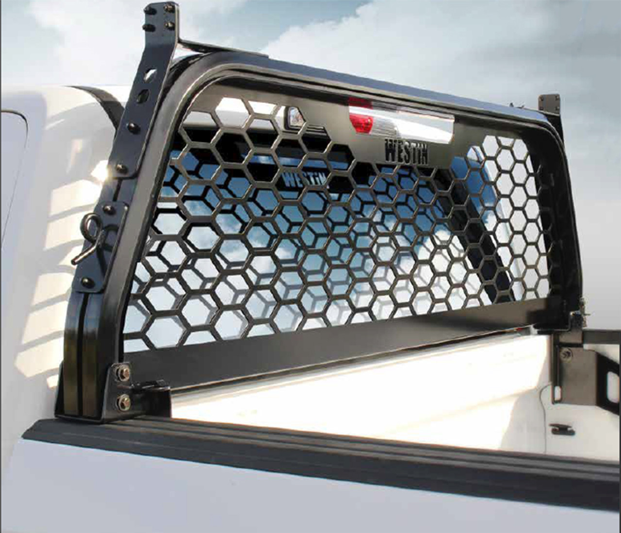 westin hlr pickup truck headache rack 57 81025 dodge ram 2009 2019 high visibility with 78 open aluminum punch plate screen optional adjustable