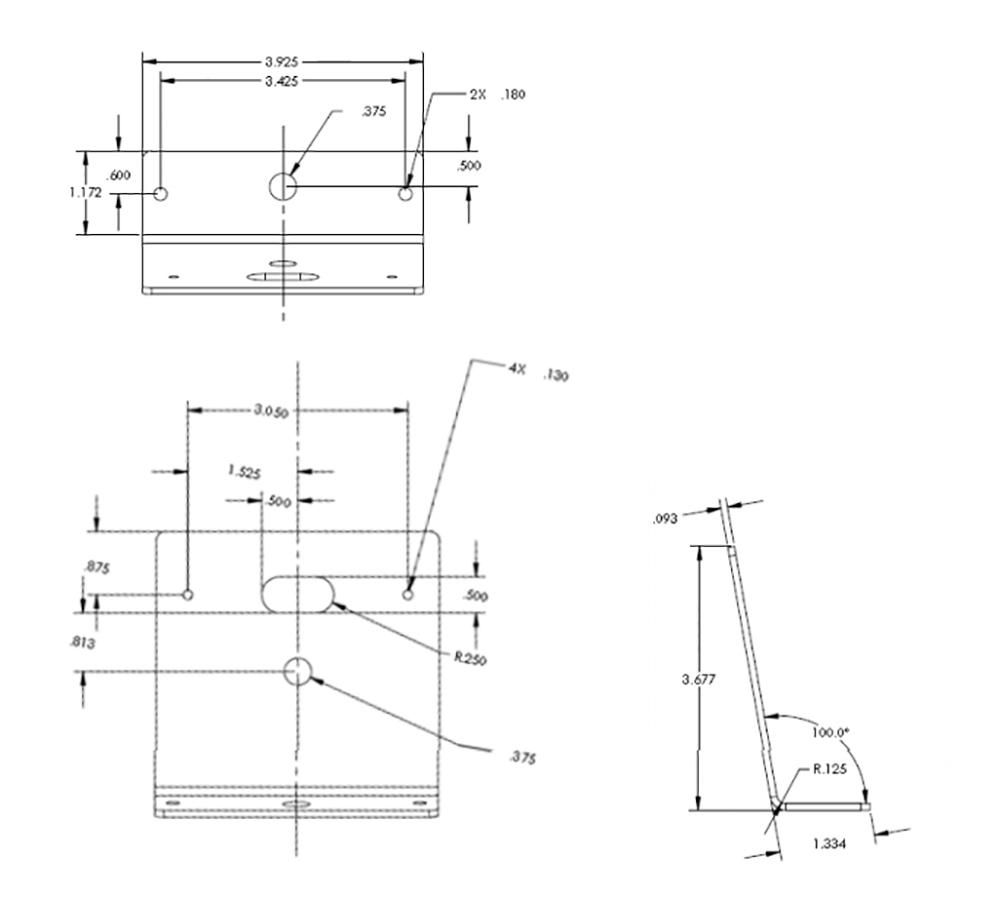 medium resolution of code 3 t rex xtp3 and torus light b pillar 100 degree window mounting brackets