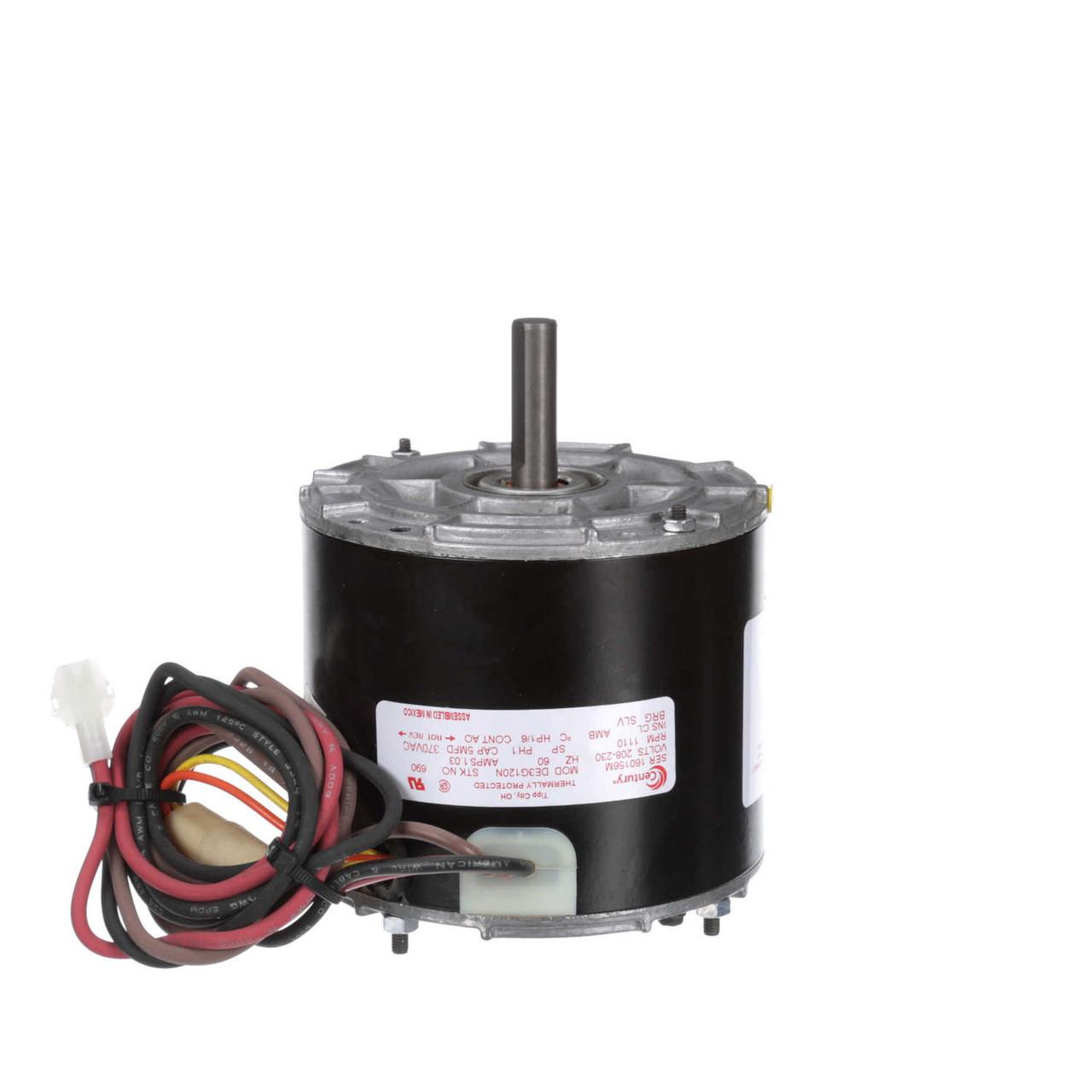 medium resolution of heil quaker icp replacement motor hq1052662un 1 6 hp 1110 rpm 208 230v century 690