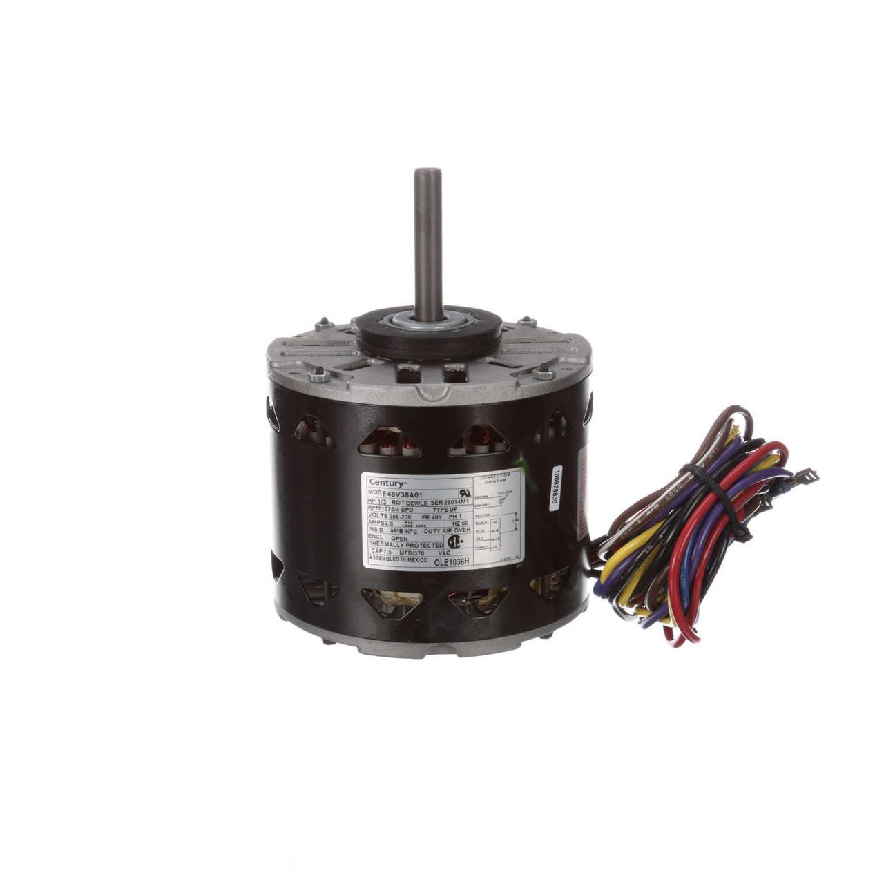 medium resolution of lennox furnace motor p 8 8609 1 3 hp 1075 rpm 208 230v century ole1036h