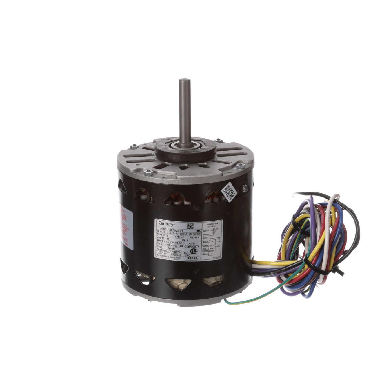 medium resolution of lennox k55hxnnz 7057 furnace motor 3 4 hp 1075 rpm 115v century 9405a