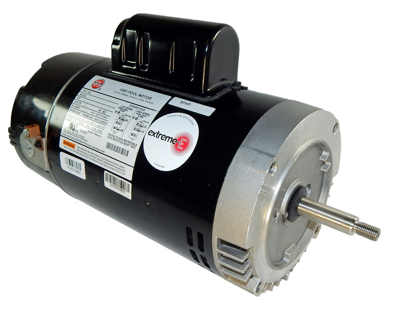 hight resolution of 1 5 hp 2 speed 56j frame 230v 2 speed swimming pool motor us electric motor asb2977