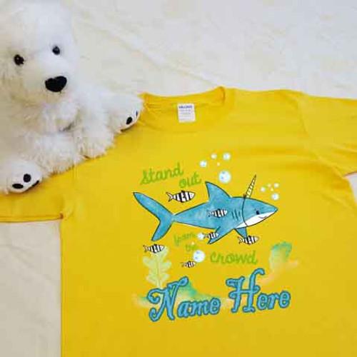shark unicorn youth shirt