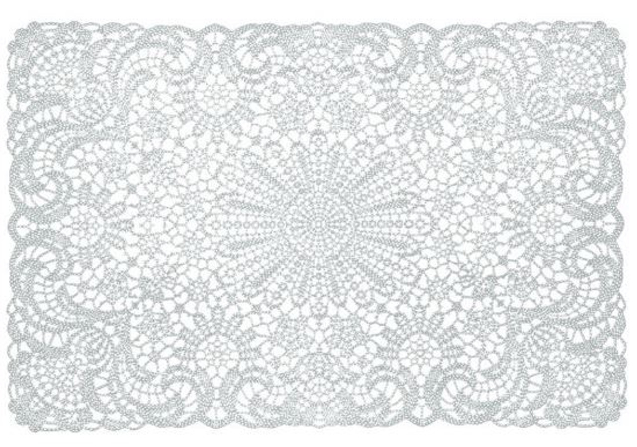 placemat wit vinyl gehaakt