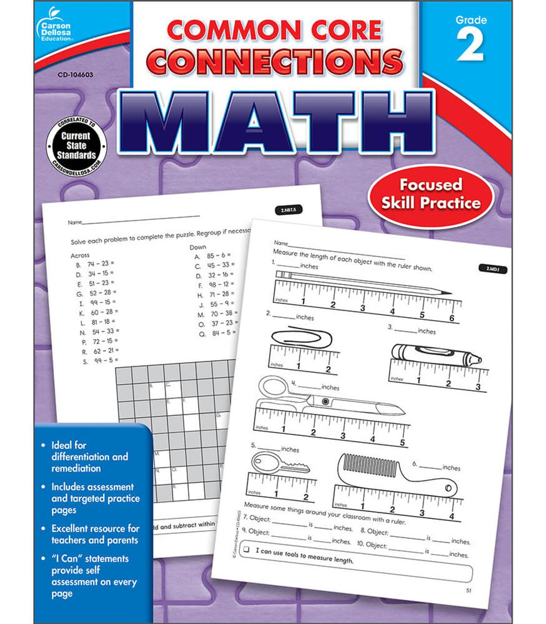 medium resolution of Common Core Connections Math Workbook Grade 2 Paperback