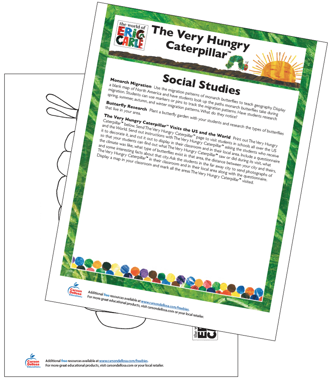 hight resolution of The Very Hungry Caterpillar Social Studies Activity Free Printable   Carson  Dellosa
