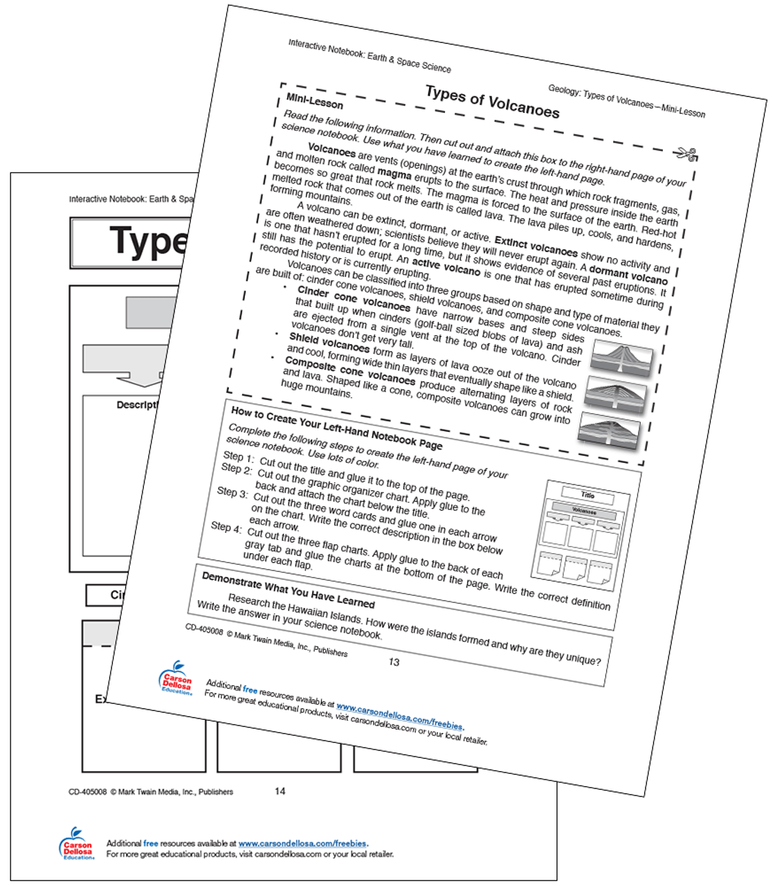medium resolution of Volcano Types Free Printable   Carson Dellosa