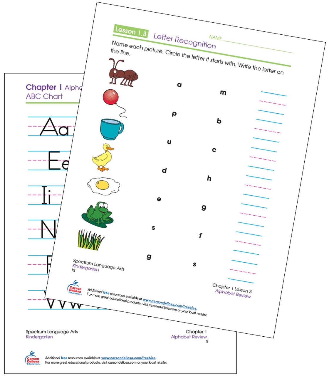 hight resolution of Letter Recognition Kindergarten Free Printable   Carson Dellosa