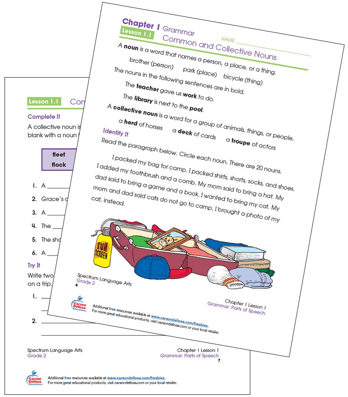 hight resolution of Common and Collective Nouns Grade 2 Free Printable   Carson Dellosa