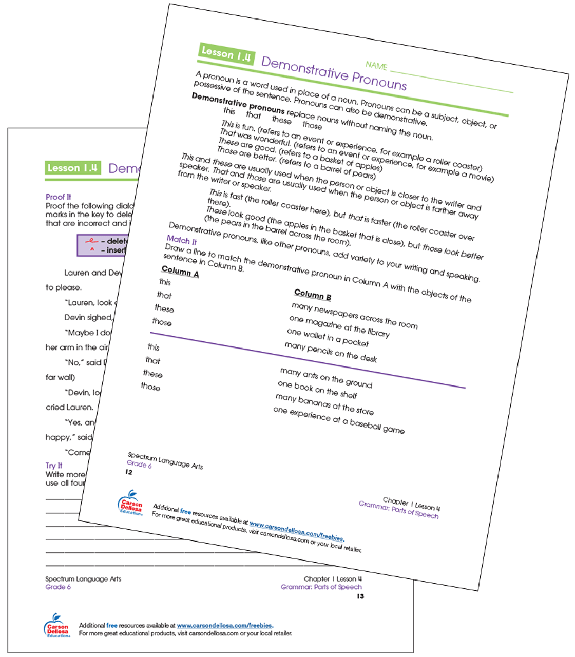 hight resolution of Download Demonstrative Pronoun Worksheet For Grade 3 Pictures · Worksheet  Free For You