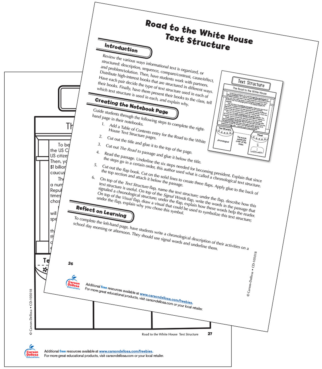 hight resolution of The Road to the White House Text Structure Grade 5 Interactive Free  Printable   Carson Dellosa
