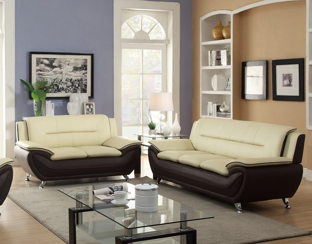 contemporary sofas and loveseats olx old sofa in delhi 2pc patrick loveseat cream burgundy 858