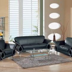 Contemporary Sofas And Loveseats Lyon Paris Saint Germain Sofascore Kassa Mall Home Furniture U559 Black Leather Sofa Loveseat Set
