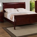B3800 Louis Philip Cherry Sleigh Bed Frame Collection By Crown Mark