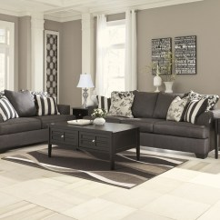 Liberty Sofa And Motion Loveseat Quilted Covers 734ch Ashley Levon 2pc Set Charcoal Collection By