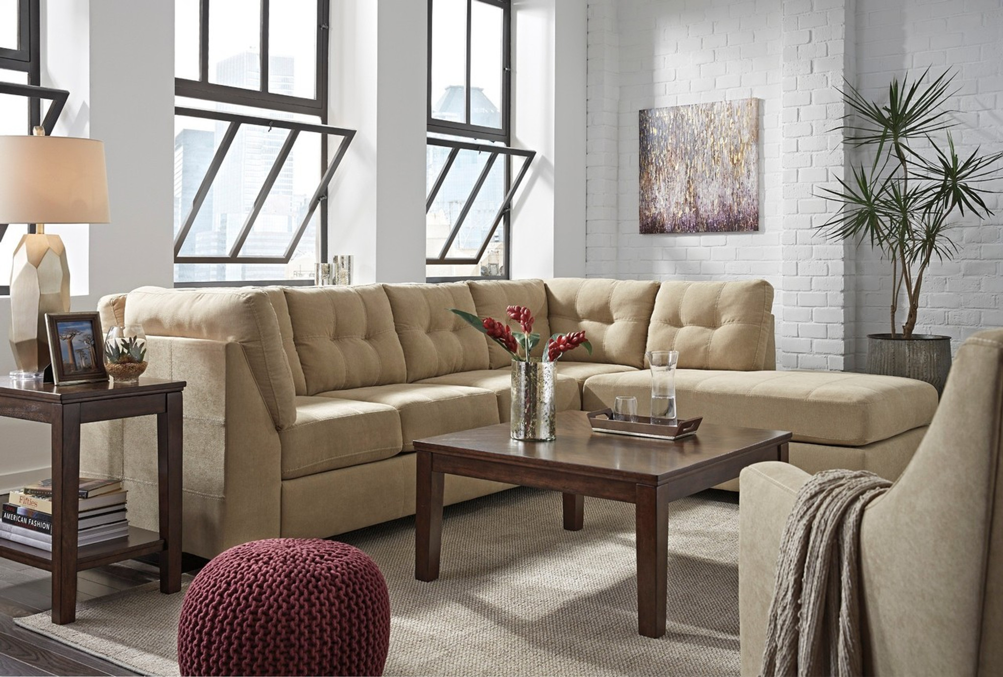maier cocoa collection sectional set
