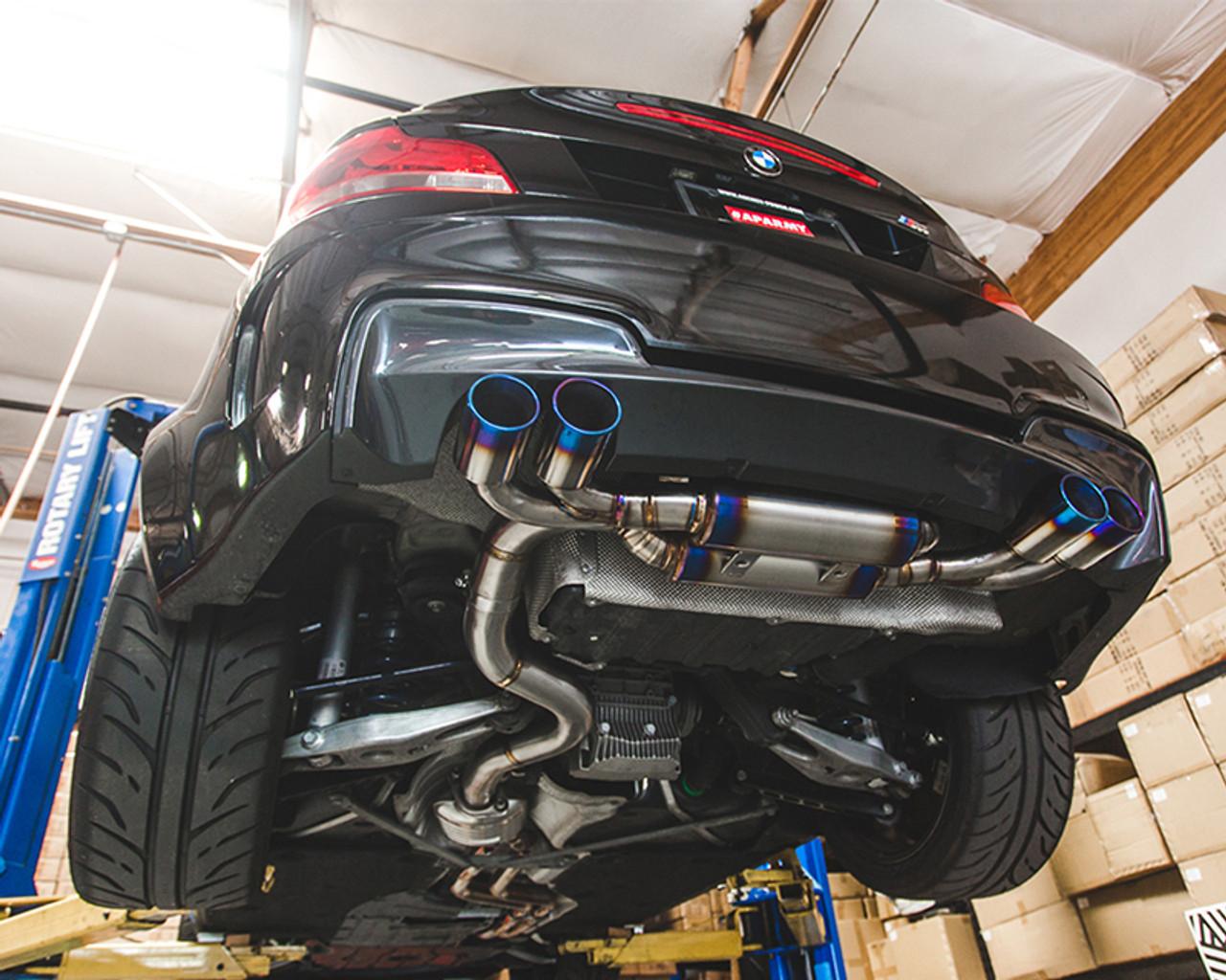 titanium muffler quad tip exhaust bmw 1m e82 n54 agency power