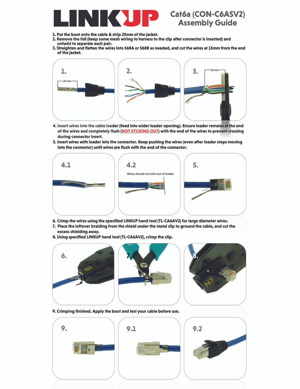 hight resolution of  linkup rj45 connectors cat6a ethernet shielded modular plugs for large diameter wires 22awg termination