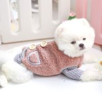 Shop 2021 Autumn And Winter Buckle Vest Jacket Teddy Teacup Puppy Dog Casual Plush Cat Outer