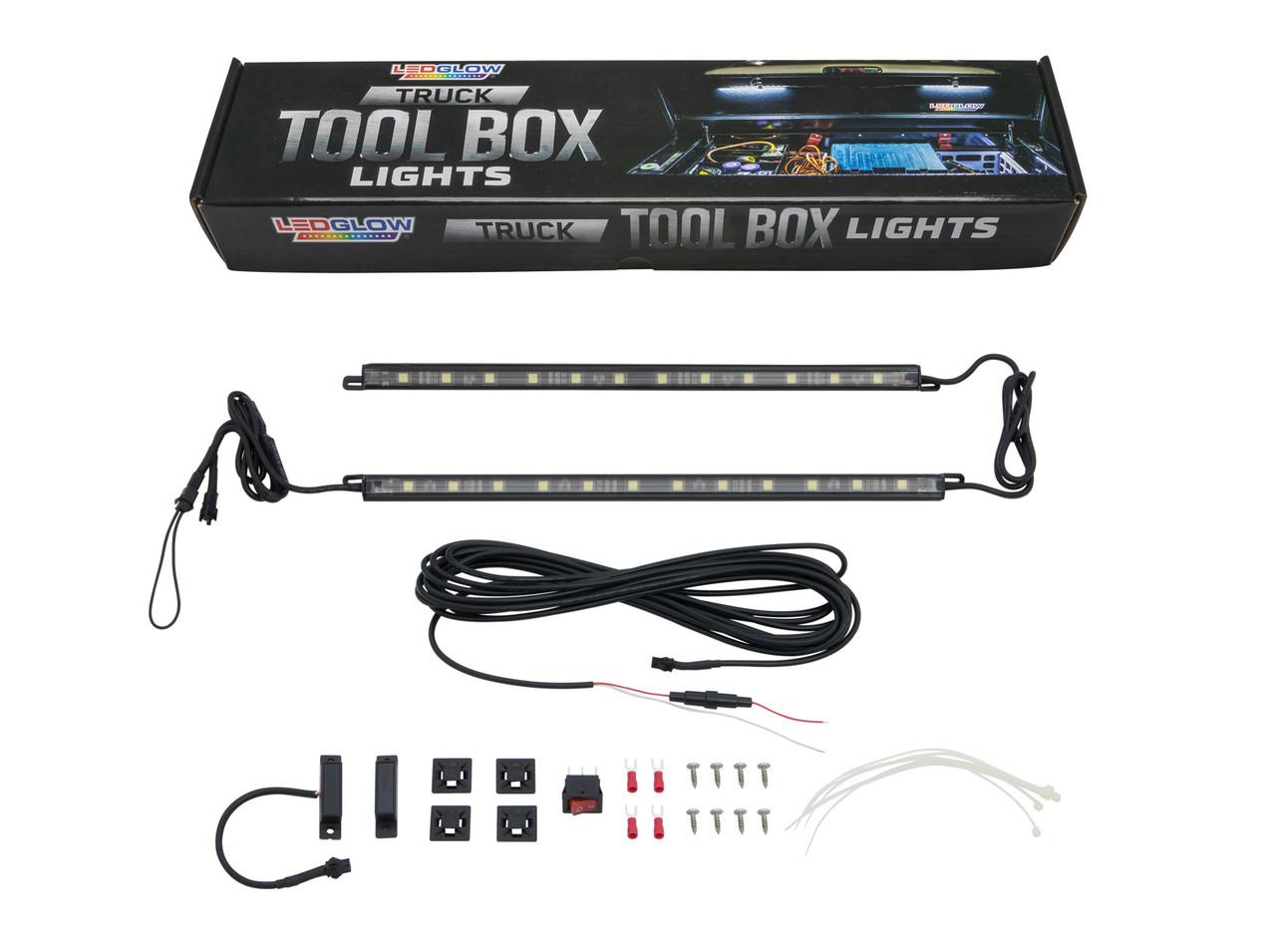 2pc white led truck tool box lighting kit
