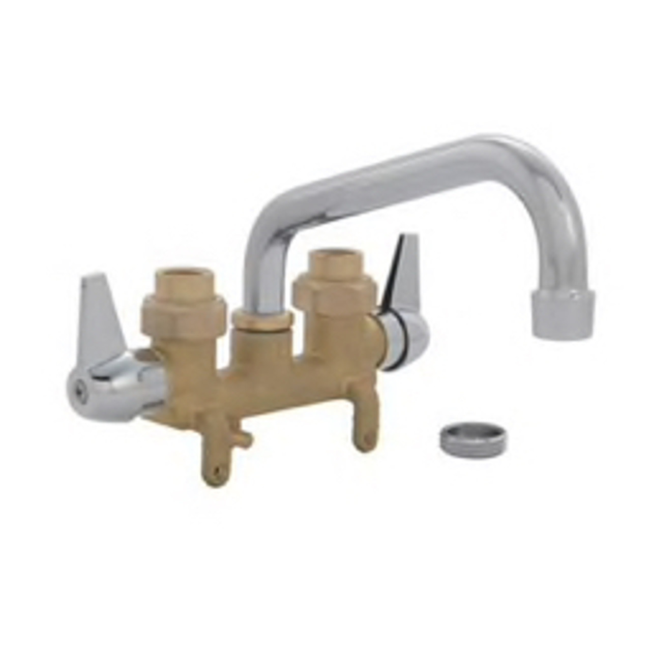 proflo utility sink faucet 2 4 gpm laundry utility sink faucet with vertical brass supply lines and chrome spout handles