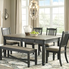 Gray Side Chair Cheap Directors Chairs Ashley Tyler Creek Black 6 Pc Rectangular Dining Room Table 4 Upholstered