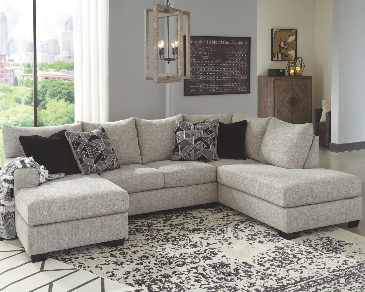 ashley megginson storm laf sofa couch chaise raf corner chaise sectional